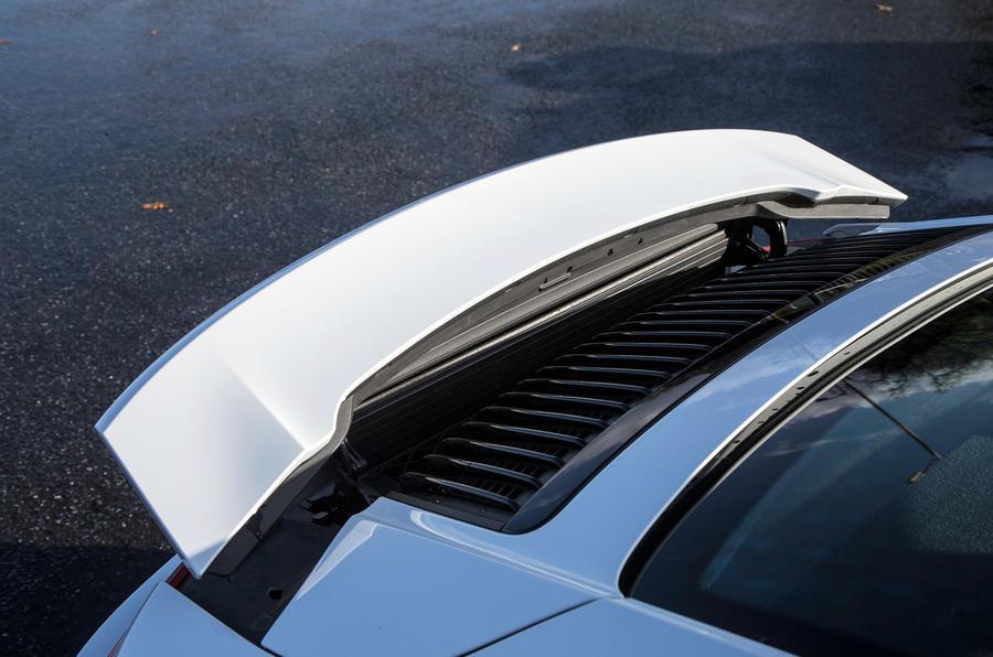 Rear wing helps the 911's aerodynamics
