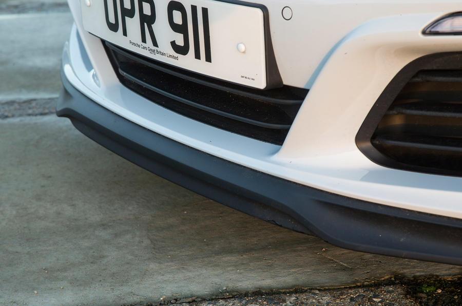 Airflow grilles on the Porsche 911