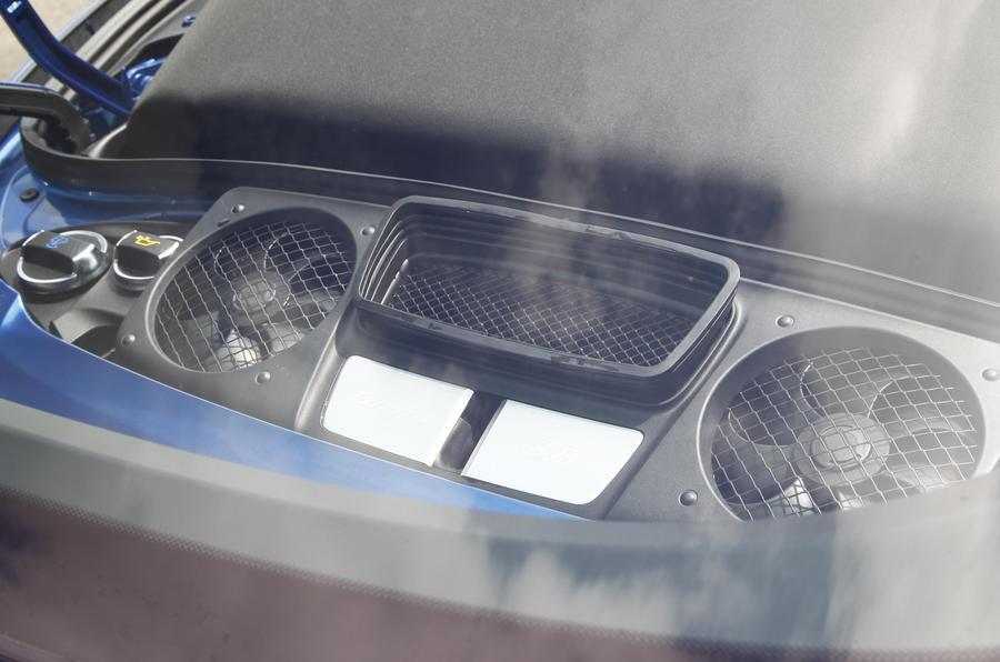 3.8-litre flat-six Porsche 911 engine
