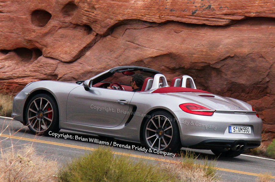 New Boxster caught undisguised