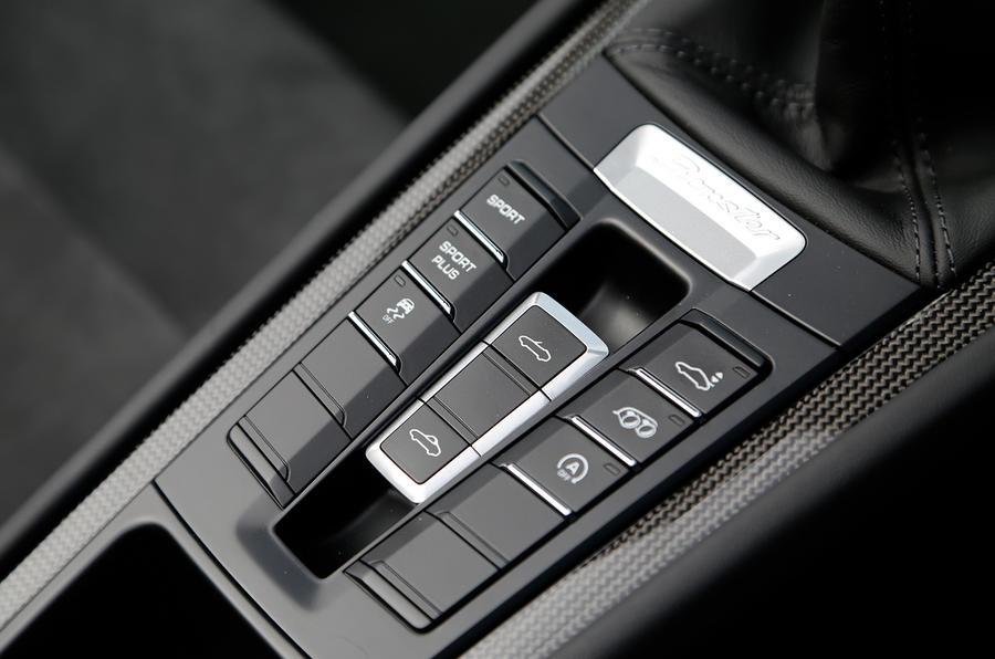 Porsche Boxster GTS roof controls