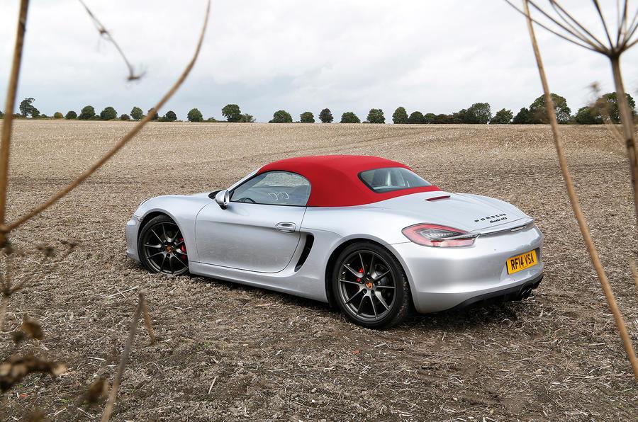 Porsche Boxster GTS roof up