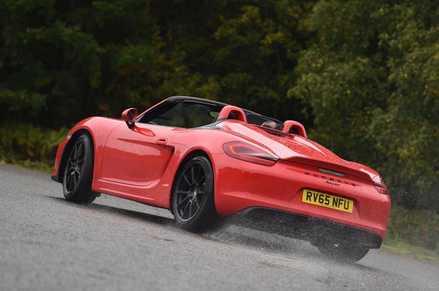 Porsche Boxster Spyder rear