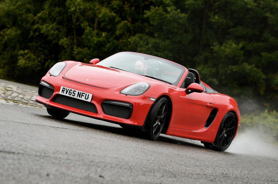 Porsche Boxster Spyder drifting