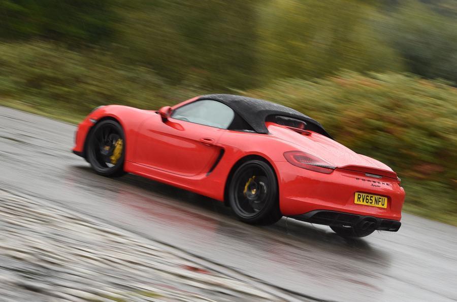 Porsche Boxster Spyder rear cornering