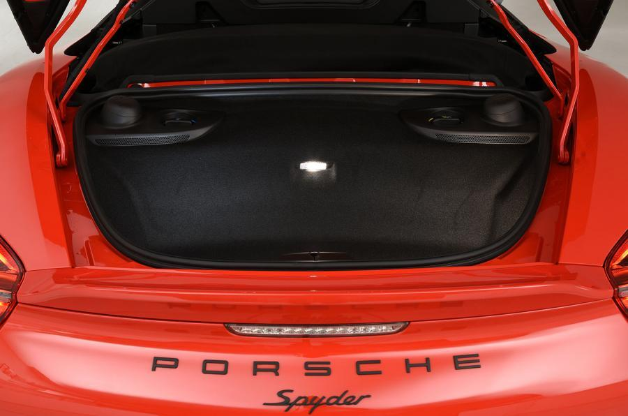 Porsche Boxster Spyder rear boot space