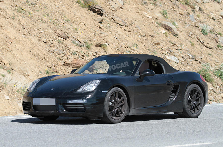 Facelifted Porsche Boxster spotted