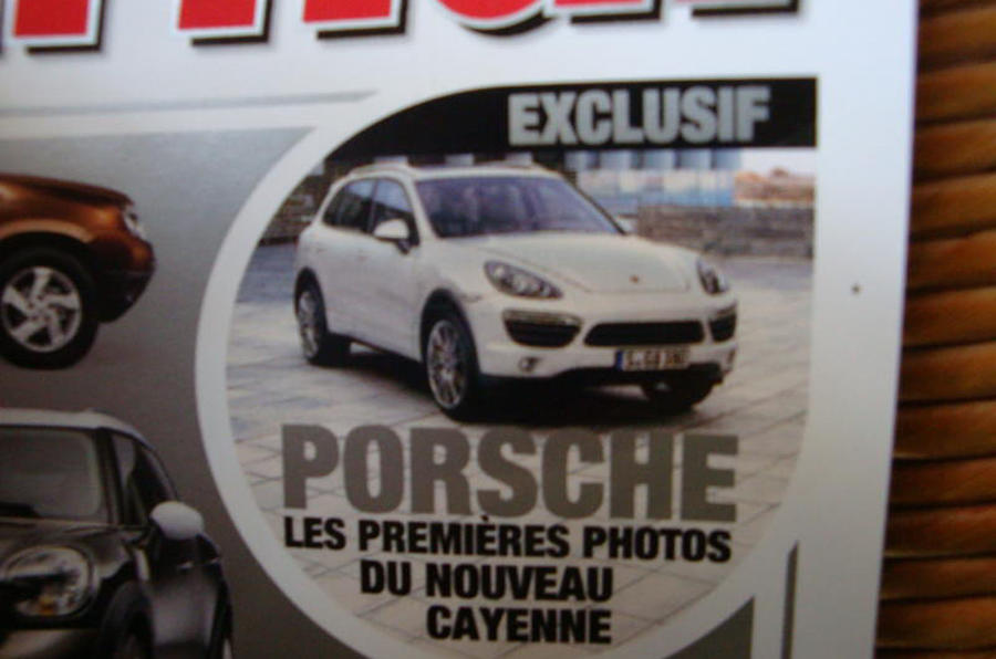 Porsche Cayenne images leak out