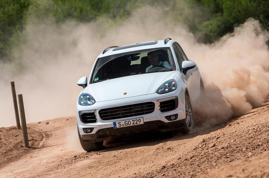 Porsche Cayenne S diesel off-roading