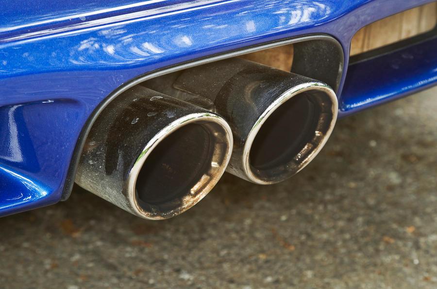 Porsche Cayman twin exhaust