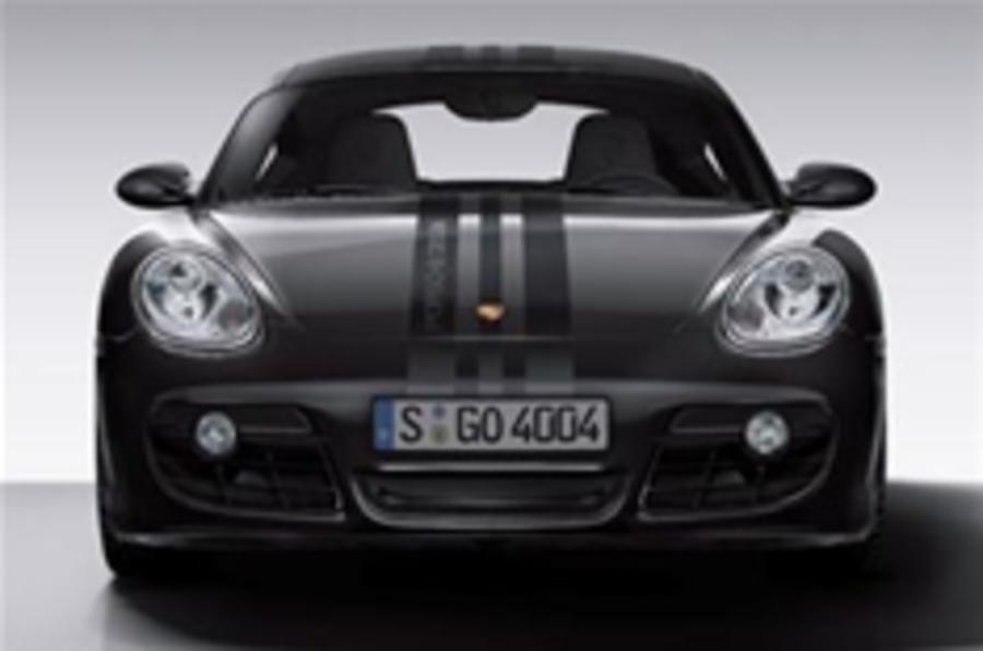 Porsche Cayman goes all gothic