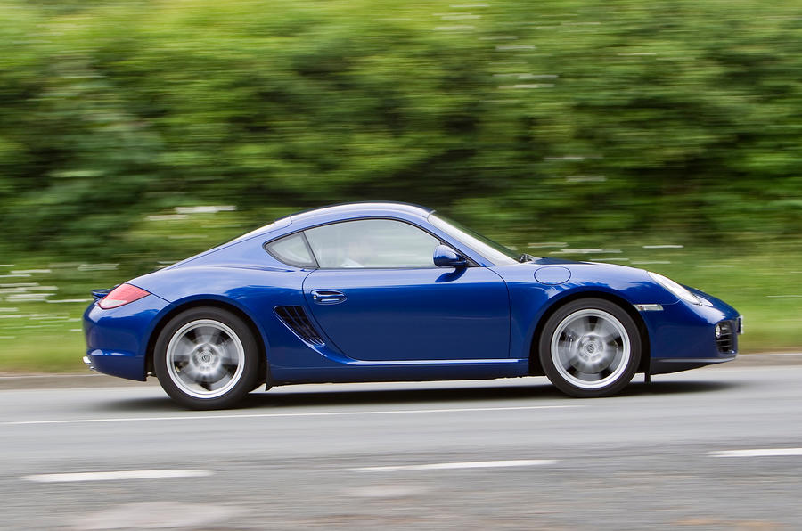 Porsche Cayman side profile