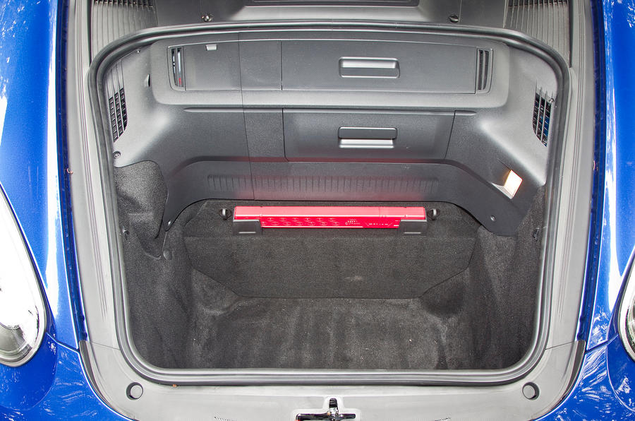 Porsche Cayman front boot space