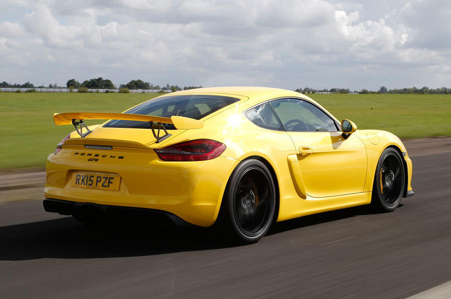 Porsche Cayman GT4 rear