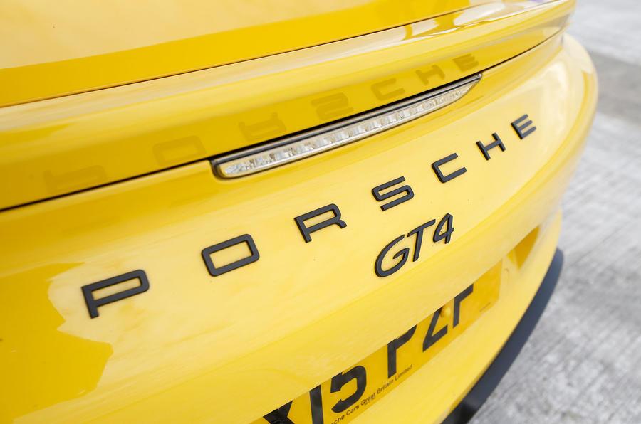 Porsche Cayman GT4 badging