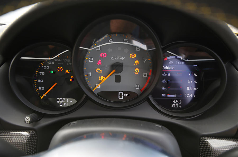 Porsche Cayman GT4 2015,2016 interior