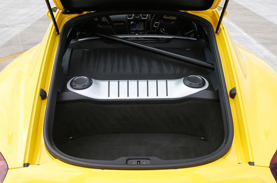 Porsche Cayman GT4 boot space