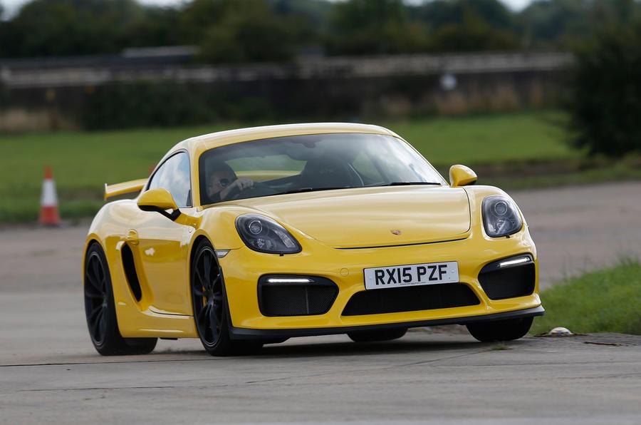 Porsche Cayman GT4 cornering