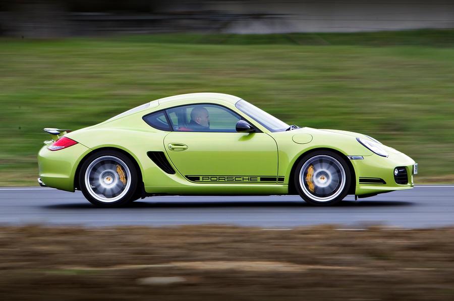Porsche Cayman R side profile