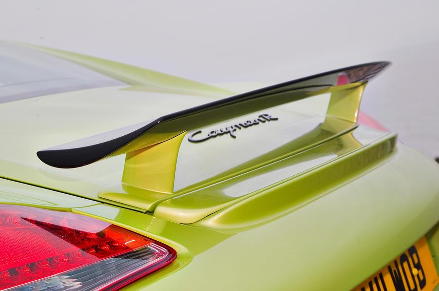 Porsche Cayman R rear wing