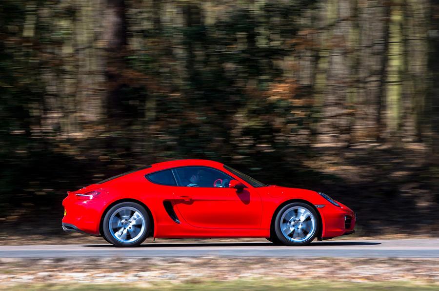 Porsche Cayman side profile