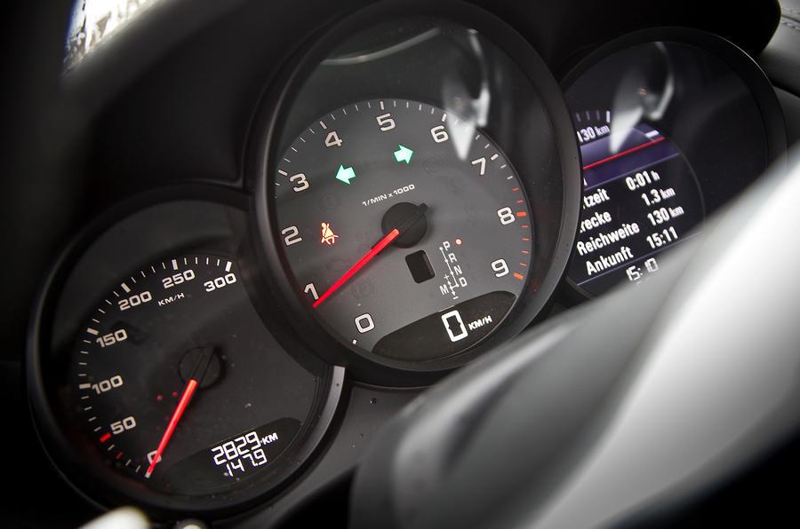 Porsche Cayman S instrument cluster