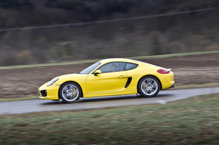 Porsche Cayman S side profile