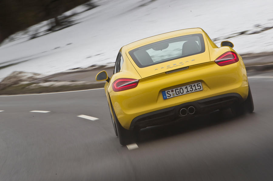 Porsche Cayman S rear cornering