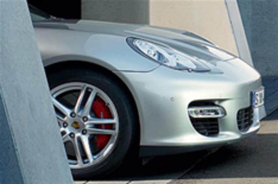 Porsche Panamera in action