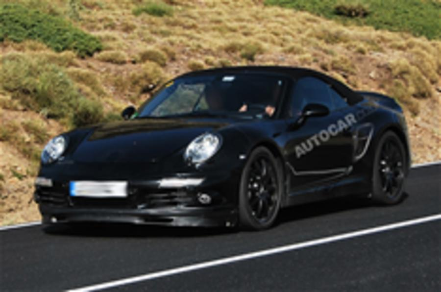 Porsche 998 cabrio spied