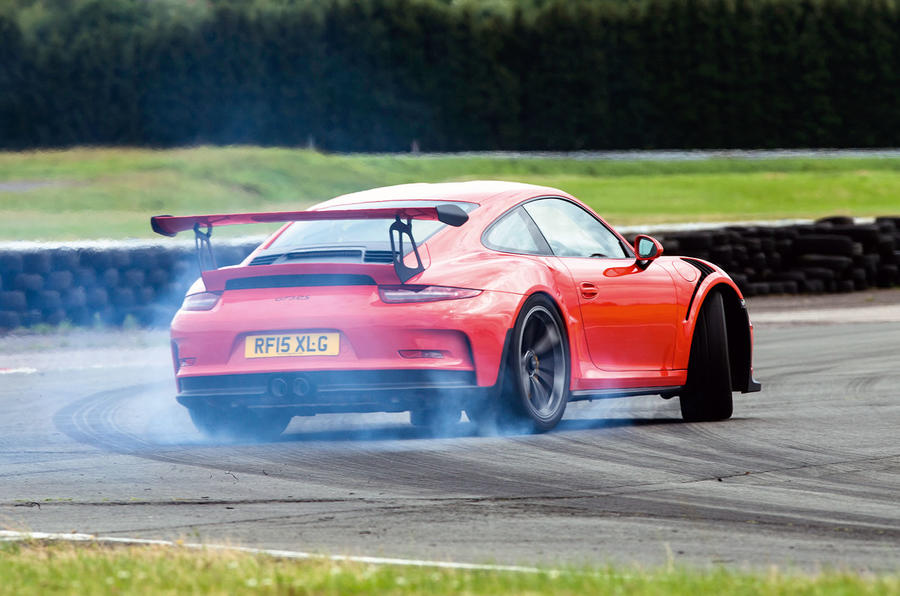 Rear-steer makes for a composed an super-effective turn-in on the Porsche 911 GT3 RS
