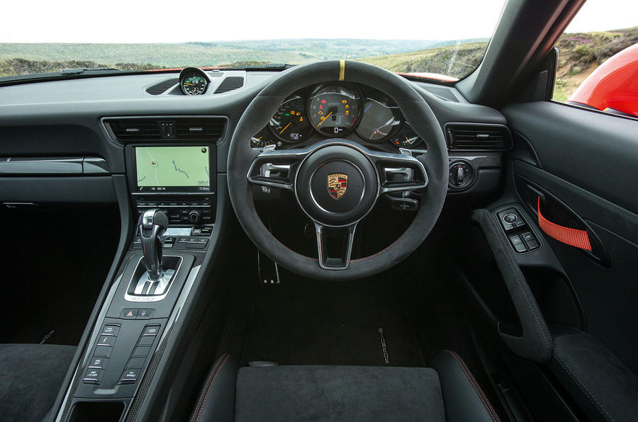 The driver's view from the Porsche 911 GT3 RS