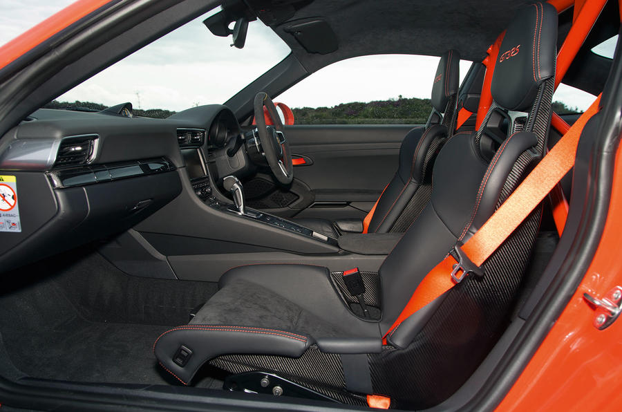 The Porsche 911 GT3 RS's cabin