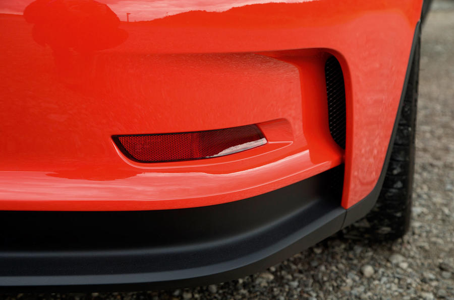 The Porsche 911 GT3 RS rear apron is made from a new polymer of polyurethane