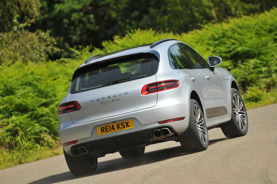 Porsche Macan rear cornering