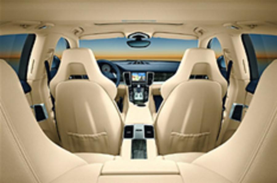 Porsche Panamera interior pics