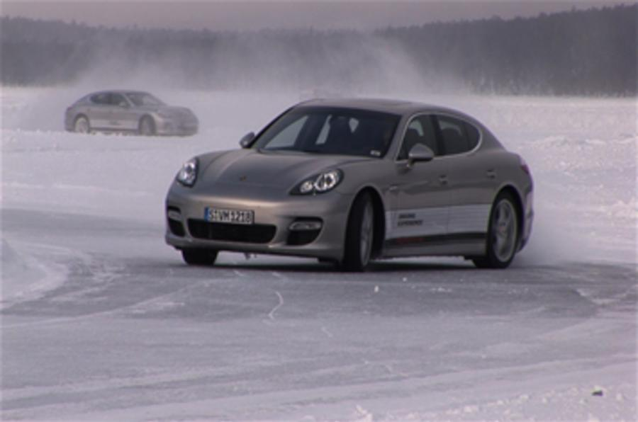 Panamera ice driving on video