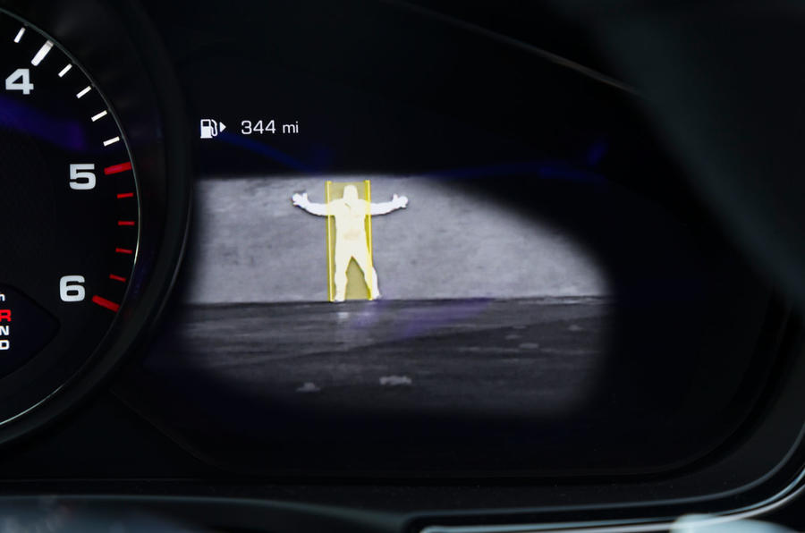 Porsche Panamera infrared detection system