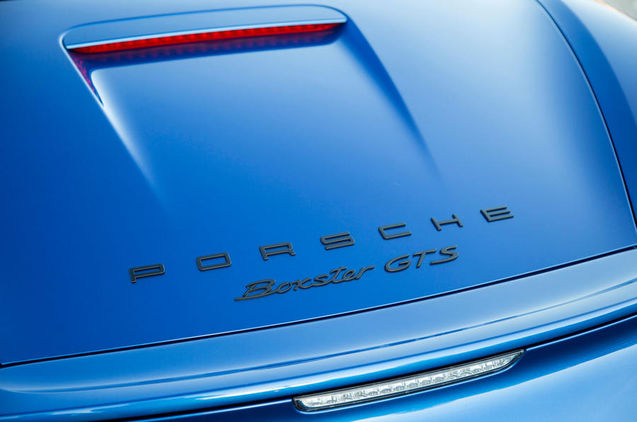 Porsche Boxster GTS badging