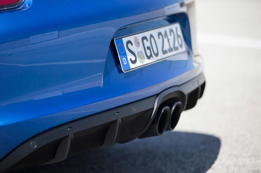 Porsche Boxster GTS twin-exhaust
