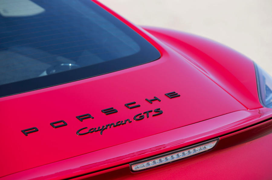 Porsche Cayman GTS badging