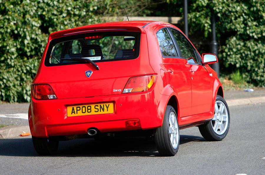 Proton Savvy hard rear cornering