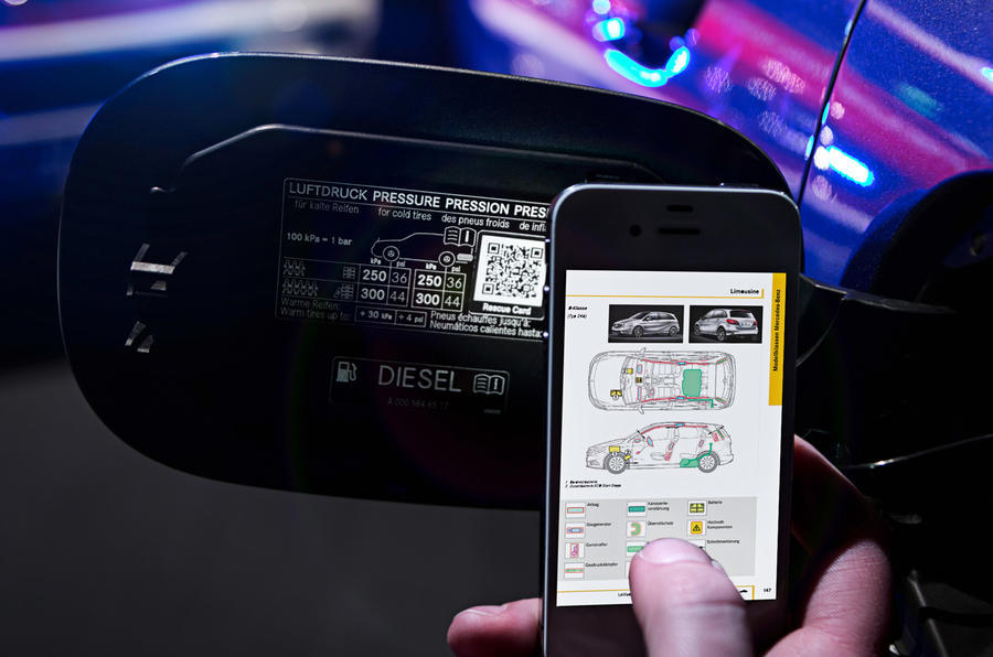 Mercedes-Benz launches QR code-based system to help save lives