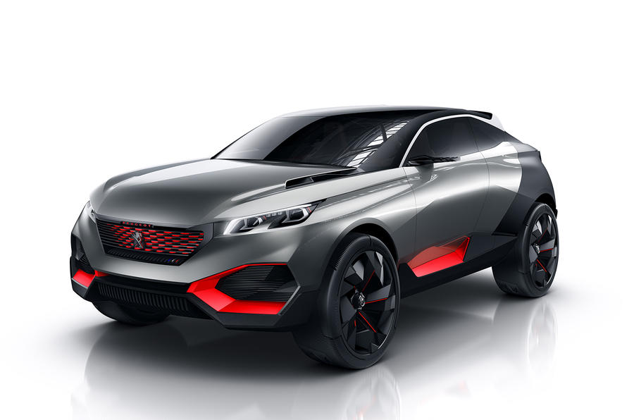 peugeot reveals quartz hybrid suv concept autocar. Black Bedroom Furniture Sets. Home Design Ideas