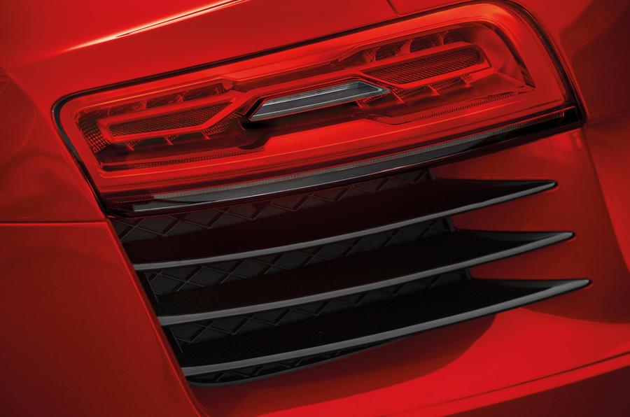 Rear LEDs on the Audi R8 e-tron