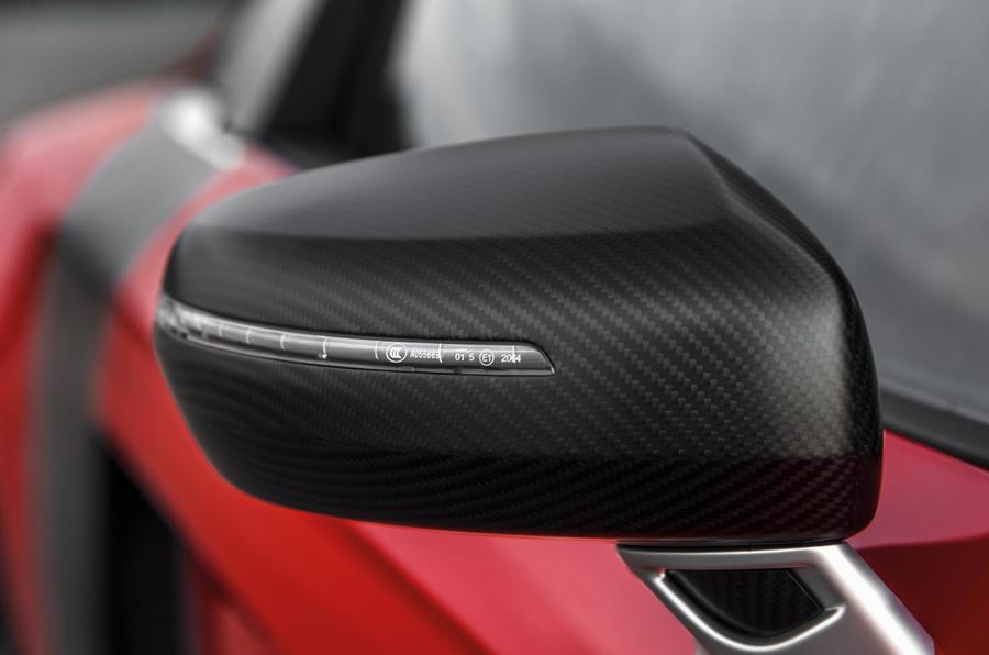 Audi R8 e-tron's wing mirror