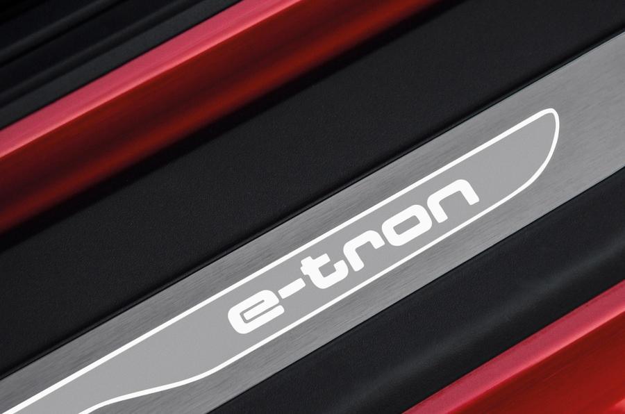 Audi R8 e-tron's kickplates