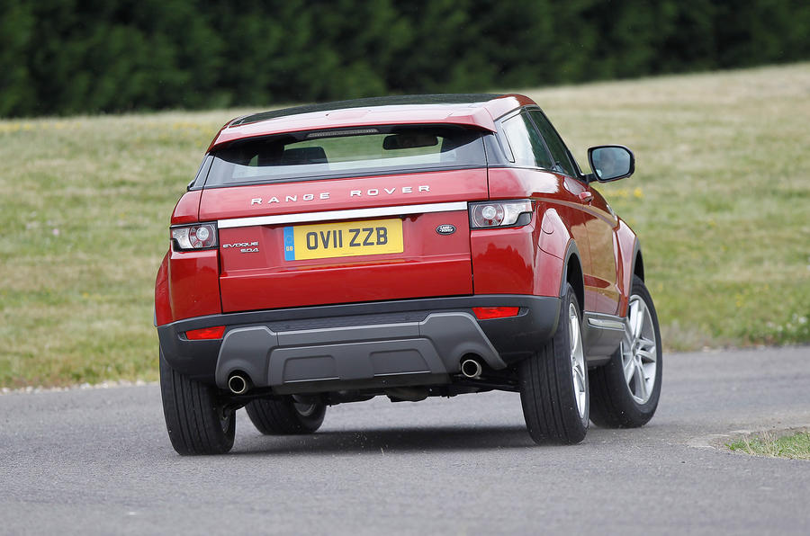 Range Rover Evoque rear cornering