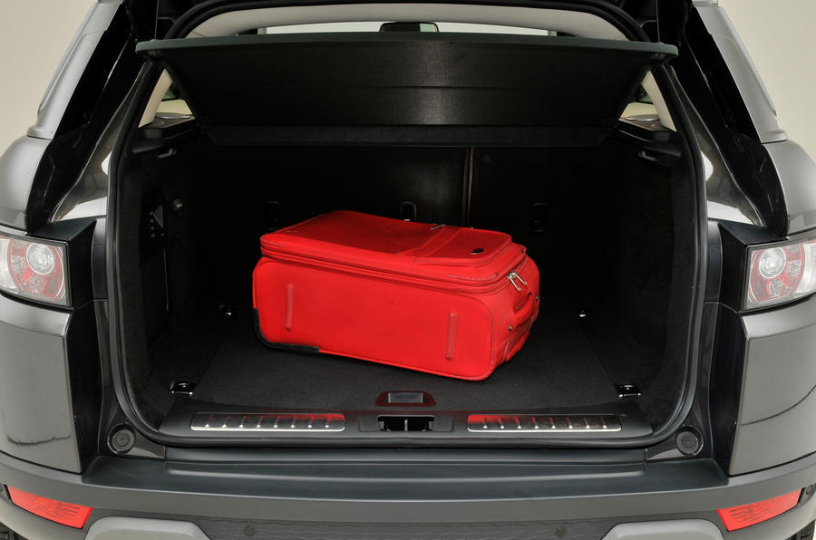 Range Rover Evoque boot space