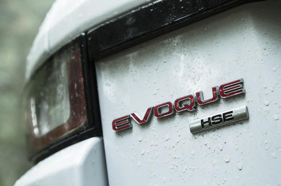 Range Rover Evoque Convertible badging